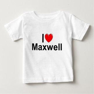 Amo maxwell (del corazón) playera de bebé