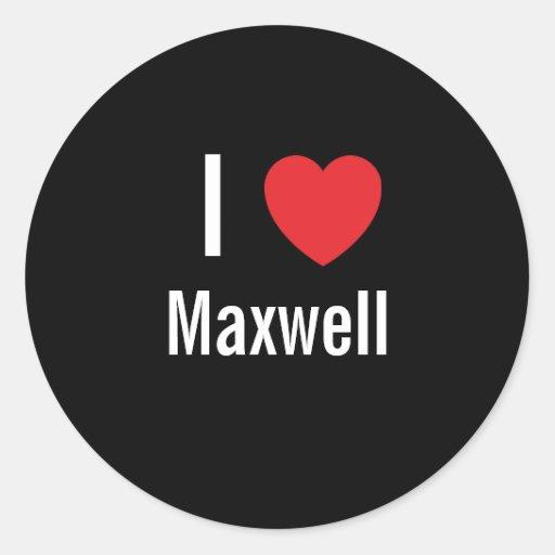Amo maxwell pegatina redonda