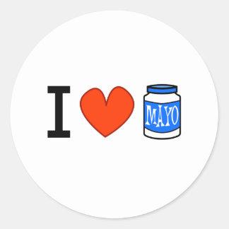 ¡Amo Mayo! Etiqueta Redonda