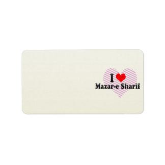 Amo Mazar-e Sharif, Afganistán Etiquetas De Dirección