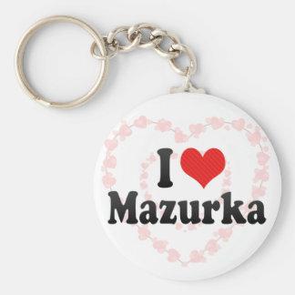 Amo mazurca llaveros personalizados