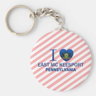 Amo Mc del este Keesport, PA Llavero Redondo Tipo Pin