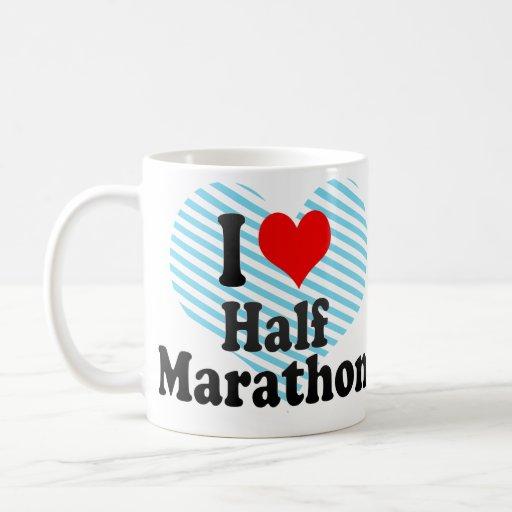 Amo medio maratón taza clásica