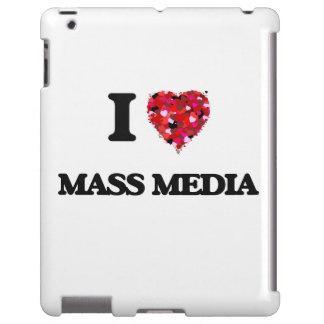 Amo medios de comunicación funda para iPad