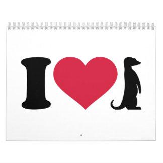 Amo Meerkats Calendario