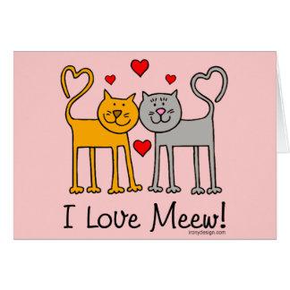 ¡Amo Meew! Tarjeton