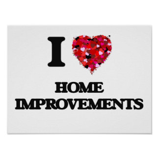 Amo mejoras para el hogar póster