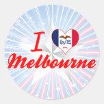 Amo Melbourne, Iowa Etiquetas Redondas