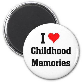 Amo memorias de la niñez imán redondo 5 cm