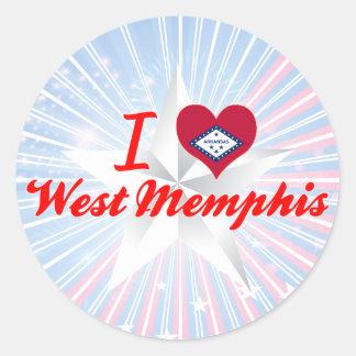 Amo Memphis del oeste, Arkansas Pegatinas Redondas