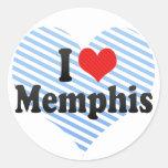 Amo Memphis Etiqueta Redonda