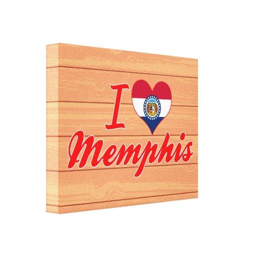Amo Memphis, Missouri Lienzo Envuelto Para Galerias