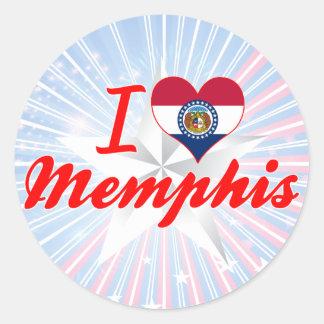 Amo Memphis, Missouri Pegatina Redonda