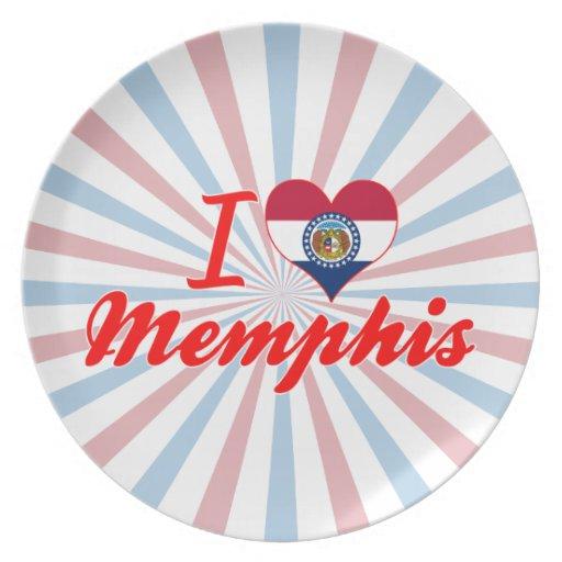 Amo Memphis, Missouri Plato De Comida
