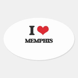 Amo Memphis Pegatinas De Ovaladas