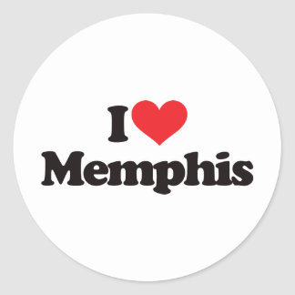 Amo Memphis Pegatina Redonda