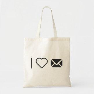 Amo mensajes bolsa tela barata