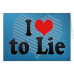 Amo mentir felicitación