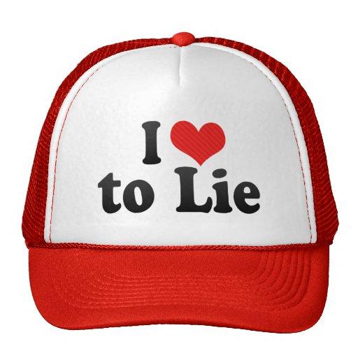Amo mentir gorras