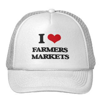 Amo mercados de los granjeros gorras de camionero