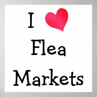 Amo mercados de pulgas póster