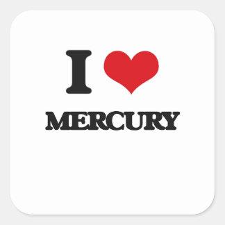 Amo Mercury Colcomanias Cuadradas Personalizadas