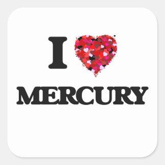 Amo Mercury Pegatina Cuadrada
