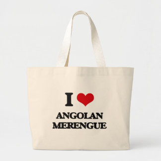 Amo MERENGUE ANGOLANO Bolsas Lienzo