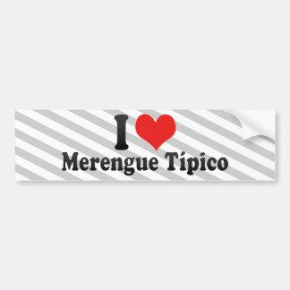 Amo Merengue Típico Etiqueta De Parachoque