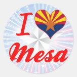 Amo Mesa, Arizona Etiquetas Redondas
