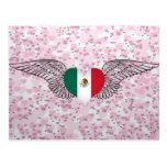 Amo México - alas Tarjeta Postal