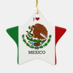 Amo México, bandera mexicana Ornatos