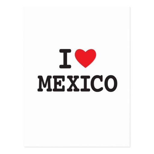 Amo México con el corazón Tarjeta Postal