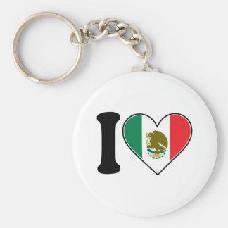 Amo México Llavero Redondo Tipo Pin