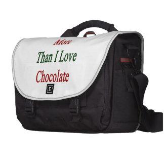 Amo México más que el chocolate del amor de I Bolsa Para Ordenador