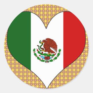 Amo México Pegatina Redonda