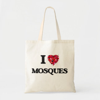 Amo mezquitas bolsa tela barata