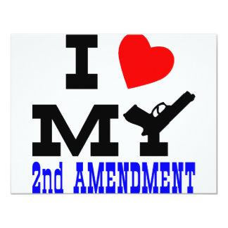 """Amo mi 2da enmienda invitación 4.25"""" x 5.5"""""""