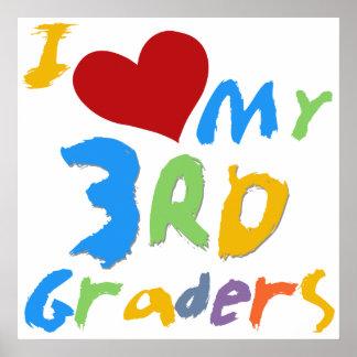 Amo mi 3ro poster de la sala de clase de los gradu