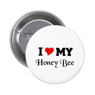 Amo mi abeja de la miel pins