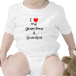 Amo mi abuela y abuelo camiseta