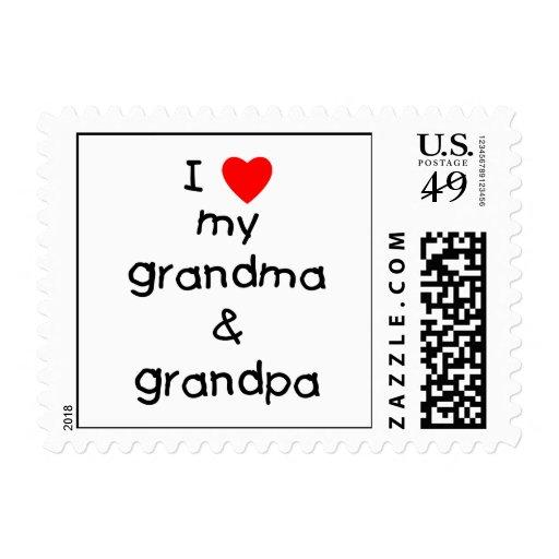 Amo mi abuela y abuelo franqueo