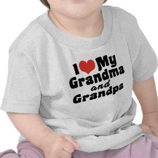 Amo mi abuela y abuelo camisetas