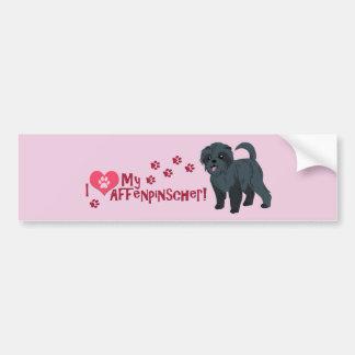 ¡Amo mi Affenpinscher! Pegatina De Parachoque