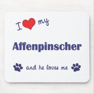 Amo mi Affenpinscher (el perro masculino) Tapete De Ratones