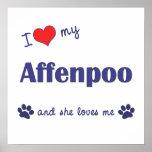 Amo mi Affenpoo (el perro femenino) Poster