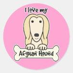 Amo mi afgano pegatinas redondas