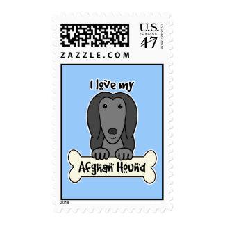 Amo mi afgano sello postal