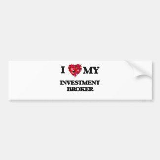 Amo mi agente de la inversión pegatina para auto