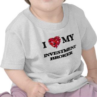 Amo mi agente de la inversión camiseta